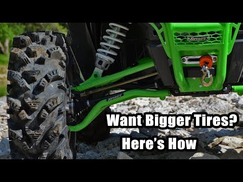 Secrets to Running Bigger Tires on Your UTV or ATV for Less $   SuperATV- Forward A-Arms - Lift Kits