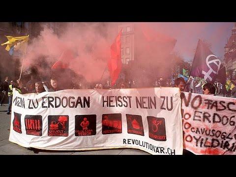 Κούρδοι διαδηλώνουν κατά Ερντογάν και ο Ερντογάν βάλει κατά Ελβετίας