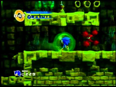 Sonic 4 - Lost Labyrinth Act 3 - Underwater Maze Escape