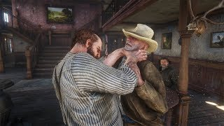 Red Dead Redemption 2 PC 60FPS - Saloon Fights Vol.15 (Euphoria Physics)