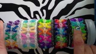 Curly Kisses Bracelet On Rainbow Loom - YouTube