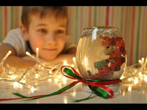 Снежный шар своими руками с ведущей