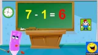 Subtraction | 1 Minus Table Twice | Home School Tutorial Online Math Video