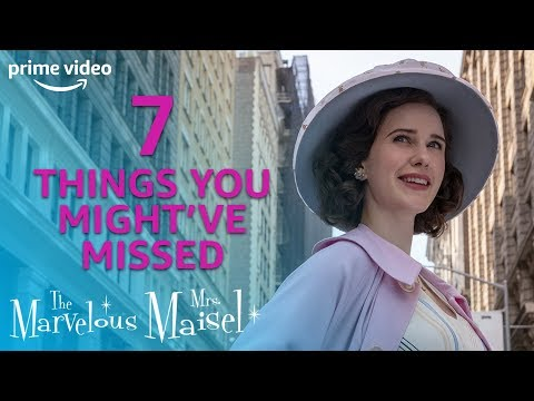 7 Easter Eggs You Might Have Missed | The Marvelous Mrs. Maisel