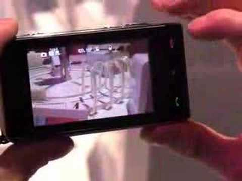 LG Viewty touch screen phone with 5mp camera