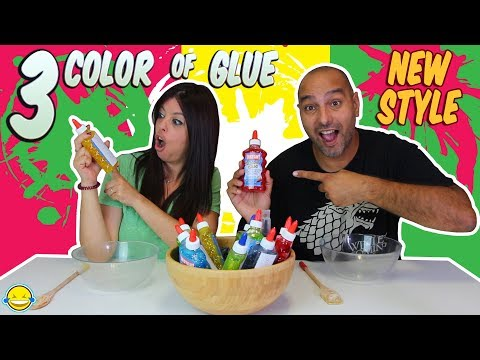 3 COLORS of GLUE SLIME NEW STYLE 3 Colores de cola para Slime Nuevo Estilo Bego y Jordi