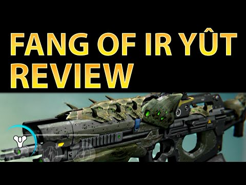 OF - FULL REVIEW: http://planetdestiny.com/fang-of-ir-yut-review Due to its versatility, Fang of Ir Yût is easily one of the top scout rifles for PvE/PvP. Its perk set allows it to be a powerhouse...