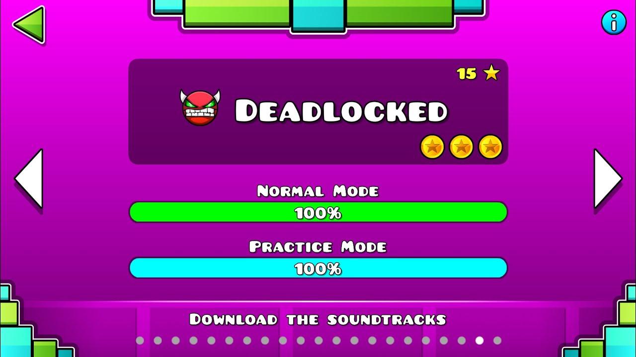 "Geometry Dash – ""Deadlocked"" 100% Complete [All Coins]   GuitarHeroStyles"
