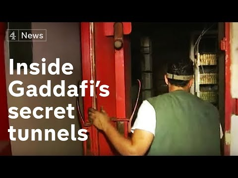 Inside Gaddafi's secret tunnels | Channel 4 News