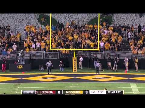 Marshall Morgan 52-yard field goal vs Missouri 2012 video.
