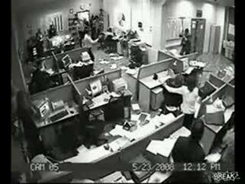 Office Worker Goes Absolutely Insane - Brutal Style
