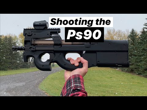 Shooting a MINI BULLPUP FN P90 / PS90