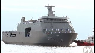 Tarlac Philippines  city pictures gallery : Philippine Navy's first Strategic Sealift Vessel (SSV) BRP Tarlac arrives in Manila