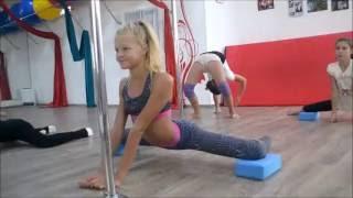 ДАЙКИРИ Pole Dance Studio_kids-разминка дети