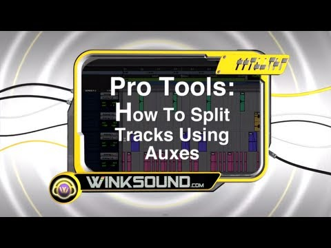 Pro Tools: How To Split Tracks Using Auxes | WinkSound