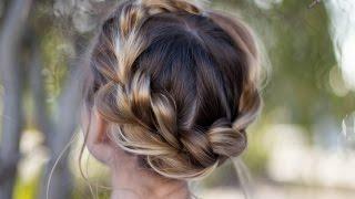 Pull Thru Crown Braid | Updo | Cute Girls Hairstyles by Cute Girls Hairstyles