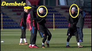 Download Video DEMBELE TRAINING with MESSI and SUAREZ !!! MP3 3GP MP4