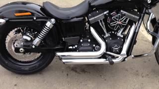 4. 2014 Harley Davidson Dyna Street Bob FXDB Vance and Hines Shortshots w/ Std buffle