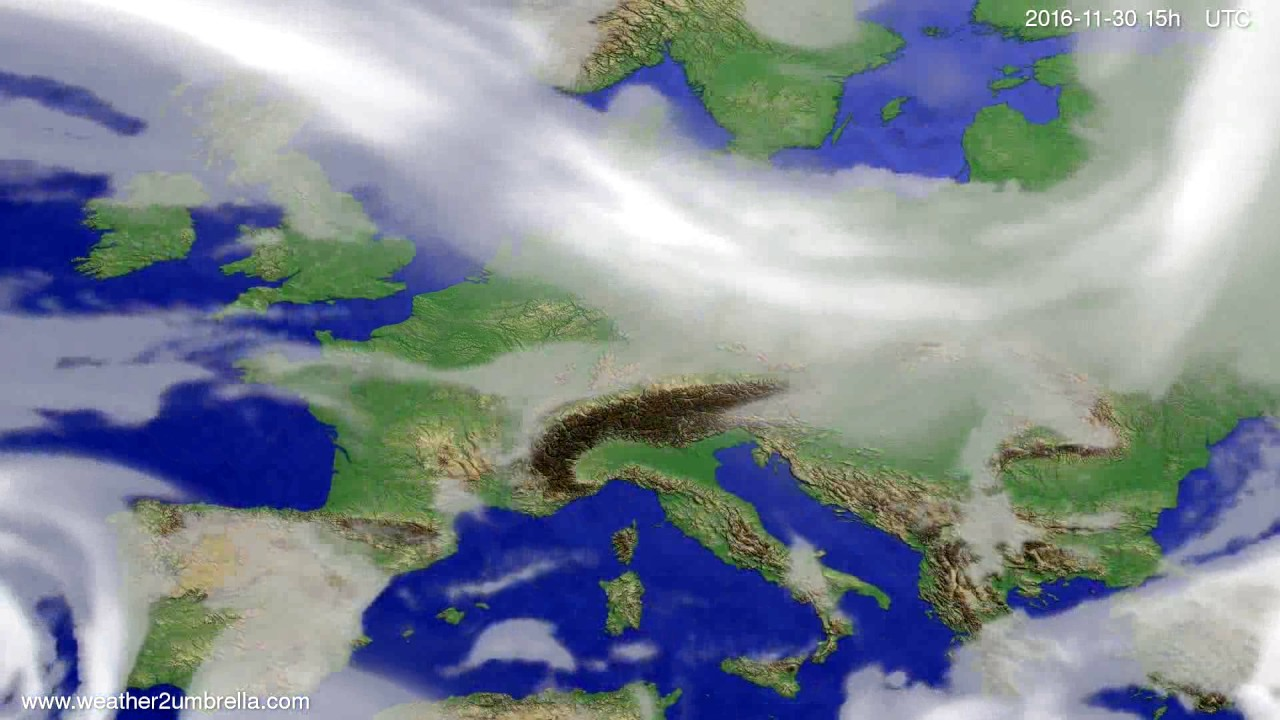 Cloud forecast Europe 2016-11-28