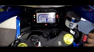 9. Suzuki 2017 GSXR 1000 ABS | Screen function and Start Up | Yoshimura R11 Exhaust