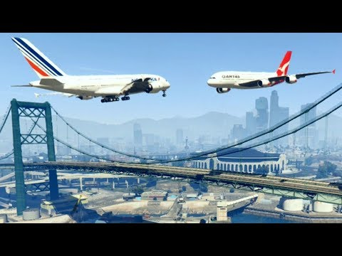GTA 5 - Amazing\terrible PLANE CRASH Compilation #8 (This Is GTA5 Game)...