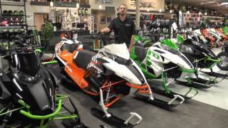 6. 2017 Arctic Cat XF High Country 8000 Sno Pro Orange & White