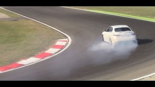 3 x Alfa Romeo Giulia Quadrifoglio Verde  DRIFT, SOUND and Ov...