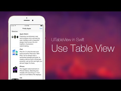 UITableView With Swift Series Pt 1: Use…