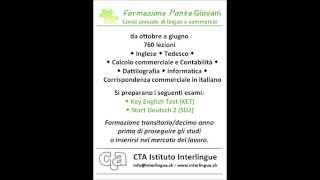 Per un decimo anno in lingue e commercio... Formazione ponte presso CTA Istituto Interlingue a Lugano!