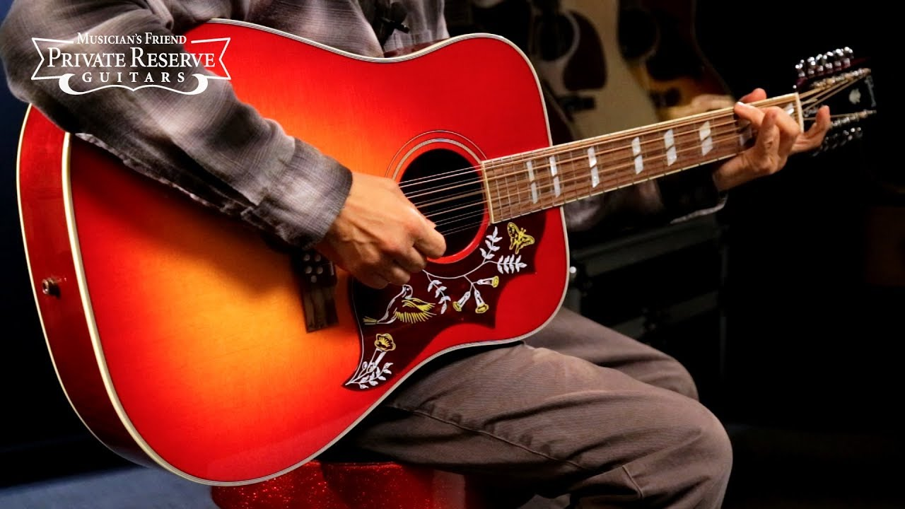 Gibson Limited Run Hummingbird 12-String Acoustic-Electric Guitar