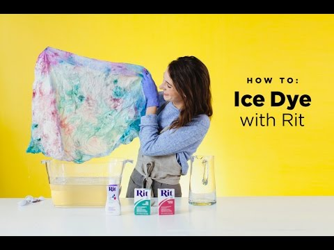 How to Ice Dye with Rit Dye
