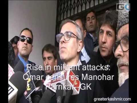 Rise in militant attacks: Omar censures Manohar Parrikar