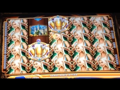 GIANT SLOT MACHINE WIN! The Amazing Bier Haus Slot Machine Bonus!! ~ WMS (DProxima)