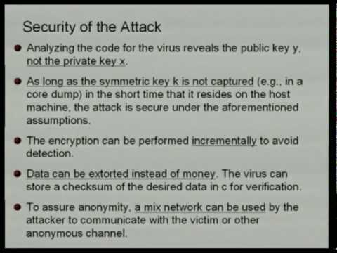 26C3: Yes We Cant  - on kleptography and cryptovirology 3/6