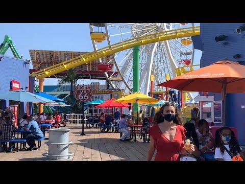 Walking the Santa Monica Pier