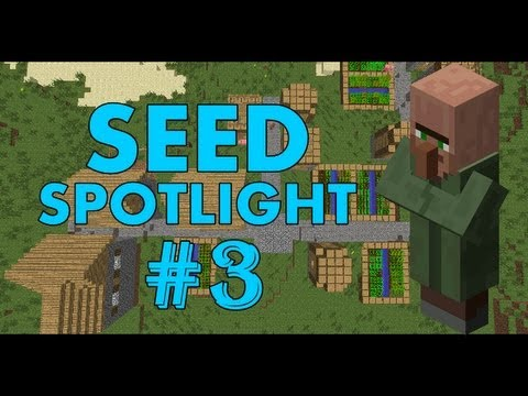 Minecraft 1.5.2 Seed Spotlight: DOUBLE VILLAGE, PYRAMID, DIAMONDS! #3