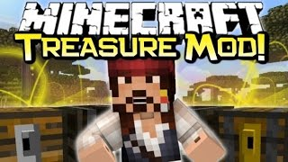 Minecraft - BURIED TREASURE! Wishing Wells,&Pirate Sunken Ships! - Treasure Mod Spotlight