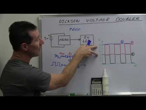 Doubler - Dave explains the Dickson Doubler building block circuit. a.k.a diode charge pump. Use a spare microcontroller pin, some diodes, and capacitors to create a u...