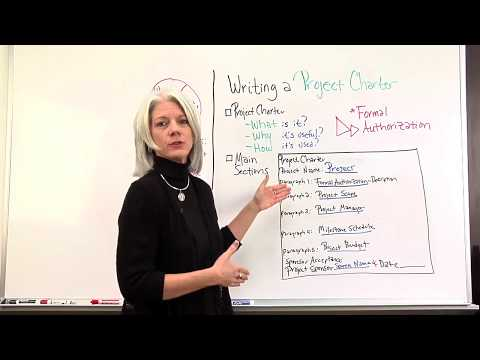 Writing a Project Management Charter Video