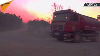 At least 100 tourists were evacuated following wildfires in Montenegro. The fire spread across the Lustica peninsula reaching...