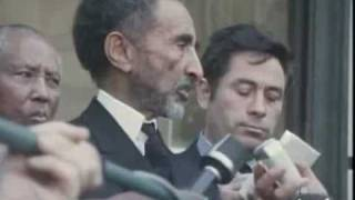 King Haile Silassie I speaking French