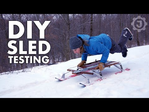 Epic Sledding on the DIY Snow Sled (4/4)