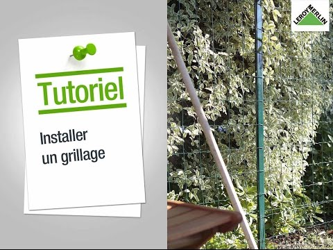 comment construire une cloture en grillage rigide