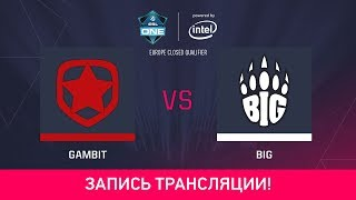 BIG vs Gambit, game 1