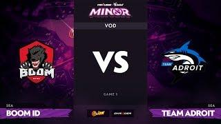 [RU] Boom ID vs Team Adroit, Game 1, StarLadder ImbaTV Dota 2 Minor S2 SEA Qualifiers