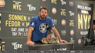 Former UFC contender Ryan Bader discusses his big split decision win over Phil Davis in his Bellator MMA debut to win the promotion's light heavyweight championship, competing on Spike TV in New York City's Madison Square Garden, the differences between Scott Coker and Dana White, and much more! Stay tuned for our complete recap of Bellator NYC in this week's episode of TSC News on Manhattan Neighborhood Network! Subscribe to the TSC podcast! SoundCloud: https://soundcloud.com/tscnewsGoogle Play: https://play.google.com/music/m/Izgi6mydvok2ur2md6pfxsr3nju?t=TSC_NewsiTunes: https://itunes.apple.com/us/podcast/tsc-news/id1061475388Stitcher: http://www.stitcher.com/s?fid=95248&refid=stprFollow TSC: https://twitter.com/SportsCourierhttps://www.facebook.com/TheSportsCourierhttp://www.youtube.com/TheSportsCourierhttp://instagram.com/tscnewsTSC News airs on MNN 2 in NY/NJ every Thursday, 9:30am/ET on FiOS: 34, RCN: 83, Spectrum: 56 & 1996, and streams live for all viewers on MNN.org and the Livestream app! All TSC News episodes are also available on demand Fridays on http://www.youtube.com/TheSportsCourier!