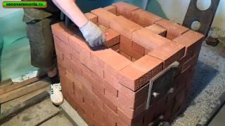 Кладка отопительно-варочной печи 3х3,5 кирпича за 9 тыс. руб