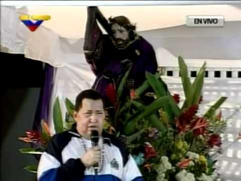 Presidente Chavez pide a Cristo vida