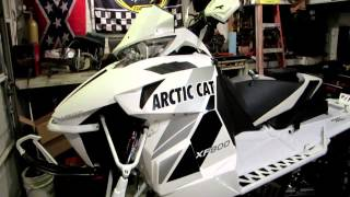 6. Studding the 2013 Arctic Cat  XF800 snowmobile track