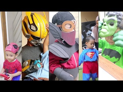 Parodi Superhero Spiderman, Gundala, Bumble Bee, Superman, Thanos